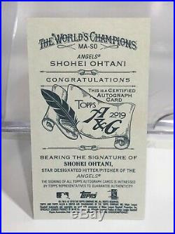 #1/10 Shohei Ohtani 2019 Topps Allen & Ginter Red Ink Autograph Auto Angels