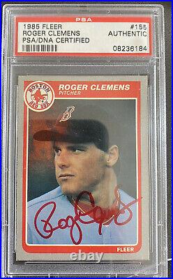 1985 ROGER CLEMENS FLEER PSA/DNA AUTO Autograph Rare Red Ink