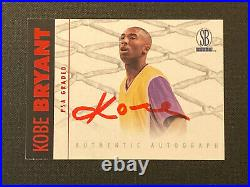 1997-98 Scoreboard Kobe Bryant AUTO Rare Red Ink On Card Autograph Lakers
