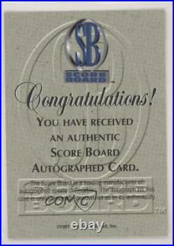 1997 Score Board Authentic Red Foil Tim Duncan (Blue Ink) Rookie Auto
