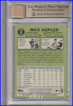 2 2016 Topps Heritage MAX KEPLER Auto 67 RED INK TRUE GEM BGS 9.5/10 Autograph