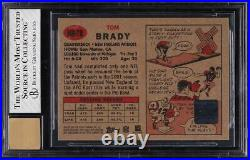 2002 Topps Heritage Real One Red Ink Tom Brady AUTO #HRTB BGS 7 NRMT