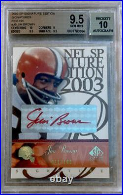 2003 SP Signature Edition Red Ink Jim Brown Auto BGS 9.5