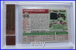 2004 Topps Heritage Real One /red Ink Harmon Killebrew Auto /55 Bgs 9.5/10