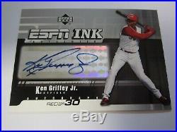 2005 KEN GRIFFEY, Jr. AUTO UPPER DECK ESPN INK AUTH AUTOGRAPH REDS MARINERS HOF