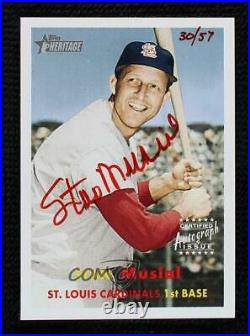2006 Topps Heritage Real One Red Ink /57 Stan Musial #ROA-SM Auto HOF