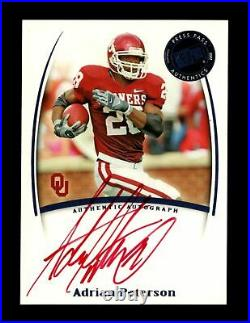 2007 Adrian Peterson Press Pass RC Auto Rookie RED INK PSA Ready Signed /10 SSP