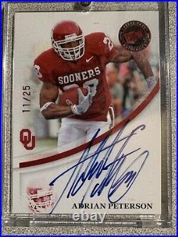 2007 Press Pass BLUE INK Adrian Peterson Auto Autograph RED #'d /25 MINT