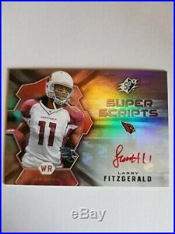 2007 SPX Larry Fitzgerald auto in RED ink