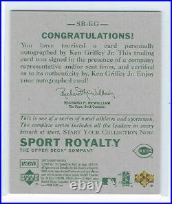 2007 UD Goudey Ken Griffey Jr. Sports Royalty Auto Blue Ink HOF Reds