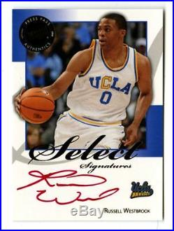 2008-09 Russell Westbrook Press Pass Auto /25 RC Signed Rookie PP Red Ink Rocket