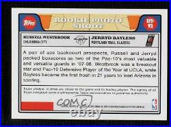 2008-09 Topps Red Ink Russell Westbrook Jerryd Bayless #RPD-WB Rookie Auto
