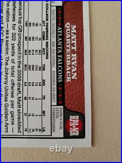 2008 Topps Rookie Premier RED Ink AUTO Matt Ryan RARE ONLY ONE ON EBAY Falcons