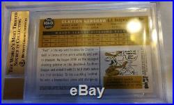 2009 Topps Heritage Clayton Kershaw Real One Auto Red Ink 41/60 ROA-CK BGS 9.5