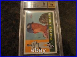 2009 Topps Heritage Clayton Kershaw Real One Auto Red Ink /60 ROA-CK BGS 9/10 au