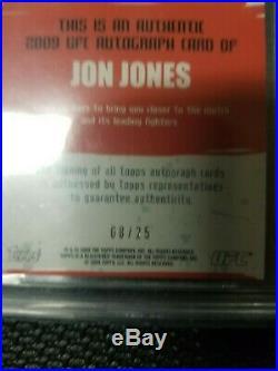 2009 Topps UFC Round 2 Jon Jones RC 1st Auto 8/25 Red Ink BGS 9.5 Rookie