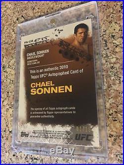 2010 Topps UFC Series 4 Red Ink 1st Auto CHAEL SONNEN 01/15 Rookie Bellator