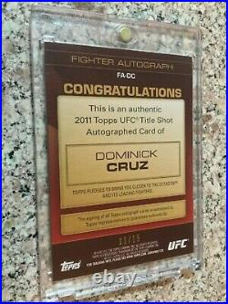 2011 Topps UFC Title Shot Red Ink 1st Auto DOMINICK CRUZ 11/15 Rookie