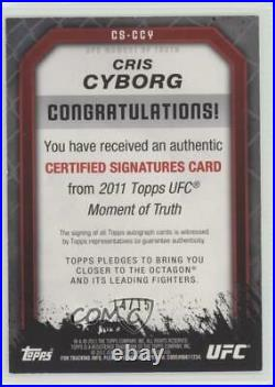 2011 UFC Moment of Truth Certified Signatures Red Ink /15 Cyborg Santos Auto