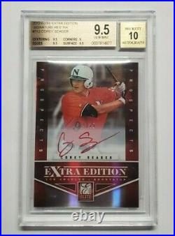 2012 Elite Extra Edition Corey Seager Red Ink Auto #19/25 BGS 9.5 Dodgers Rookie