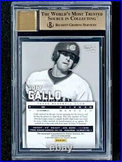 2012 Elite Extra Edition Joey Gallo #10/25 Red Ink Rookie Auto BGS 9.5/10 Auto