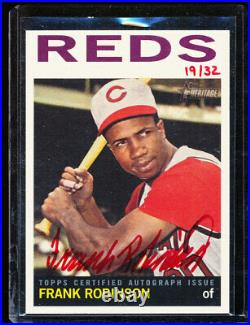 2013 Topps Heritage Frank Robinson Red Ink Auto 19/32 Roa-fr Autograph