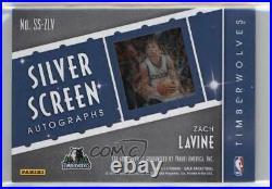 2015-16 Panini Gala Silver Screen Red Ink /10 Zach LaVine #SS-ZLV Auto