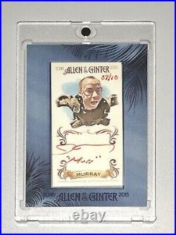2015 Allen & Ginter Impractical Jokers James Murray 7/10 Red Ink Auto Murr Topps