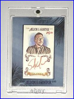 2015 Allen & Ginter Impractical Jokers Sal Vulcano #10/10 Red Ink Auto Autograph