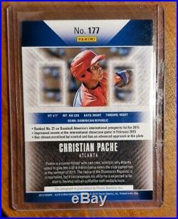 2015 Panini Elite EE Christian Pache Rc Auto #/25 Red Ink Rookie Atlanta Braves