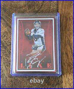 2015 Panini Luxe Peyton Manning Red Parallel White Ink Auto 09/10 SSP BRONCOS