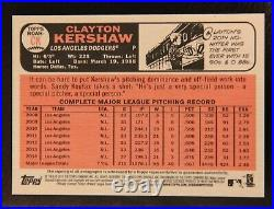 2015 Topps Heritage Clayton Kershaw Real One Red Ink AUTO Autograph #59/66