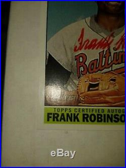 2015 Topps Heritage Frank Robinson Real Auto Red Ink 5/66! $$$