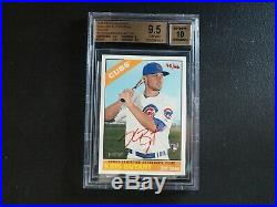 2015 Topps Heritage Kris Bryant Red Ink Real One 66 BGS 9.5 GEM MINT AUTO 10 D2B