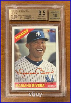 2015 Topps Heritage MARIANO RIVERA AUTO Red Ink #d /66 BGS 9.5 GEM MINT