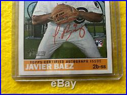 2015 Topps Heritage Real One Auto RC Javier Baez Red Ink ERROR Sealed