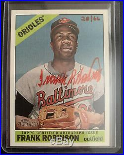 2015 Topps Heritage Real Ones Frank Robinson Red Ink Auto 28/66