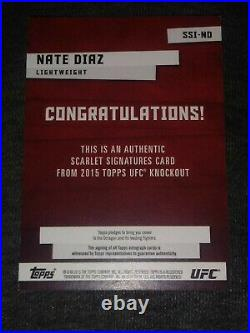 2015 Topps UFC KO Scarlet Signatures Red Ink Auto NATE DIAZ 17/50 # SSI-ND