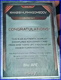 2016 KHABIB NURMAGOMEDOV 23/25 RED INK AUTO TOPPS UFC KNOCKOUT eagle autograph