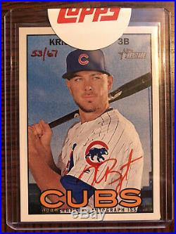 2016 Topps Heritage Real One Red Ink Kris Bryant Autograph Auto /67