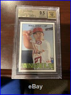 2016 Topps Heritage Real One Red Ink Mike Trout AUTO /67 BGS 9.5/10 INVEST