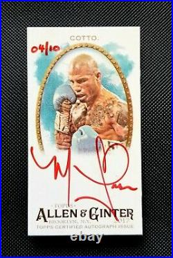2017 Topps Allen and Ginter Mini Auto Red Ink #MAMCO Miguel Cotto 4/10 Sharp