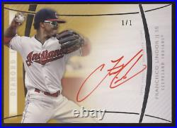 2017 Topps Diamond Icons Francisco Lindor Red Ink Auto Autograph True 1/1