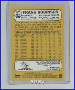 2017 Topps Heritage Frank Robinson Real One RED INK Auto #d 31/68