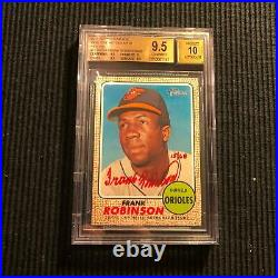 2017 Topps Heritage Frank Robinson Real One Red Ink #15/68 Auto Bgs 9.5/10 Gem