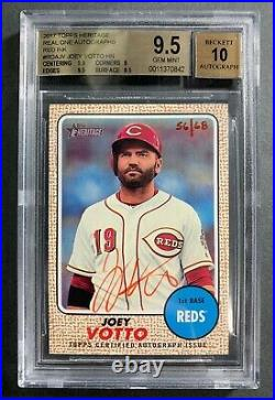 2017 Topps Heritage Red Ink Real One Autograph Joey Votto BGS GEM MINT 9.5 Auto