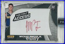 2018-19 Nba Instant Access Michael Porter Jr. Auto Patch Red Ink Black 1/1