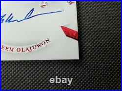 2019-20 Hakeem Olajuwon Flawless Red Premium Ink Auto Sp #13/15! Autograph! Hof