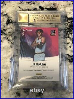2019/20 NBA HOOPS Ja Morant Rookie Ink Red /25! Auto 10 BGS 9.5 True Gem Mint