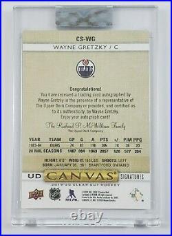 2019-20 Upper Deck Clear Cut Canvas Signatures AUTO /99 RED INK Wayne Gretzky
